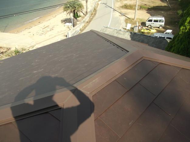 カバー工法ガルバリウム屋根葺き替え工事DSCF2321