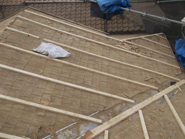 屋根下地作り補強DSCF1920