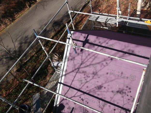 屋根防水シート敷設DSCF2247