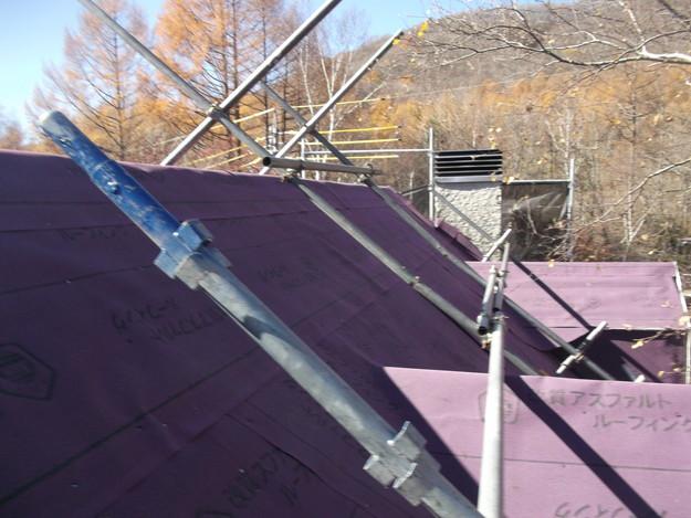 屋根防水シート敷設DSCF2252