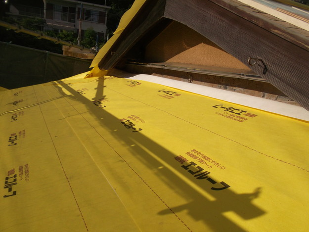 屋根防水シート材敷設DSCF1937