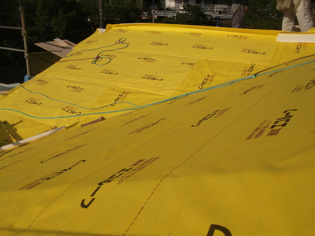 屋根防水シート材敷設DSCF1938