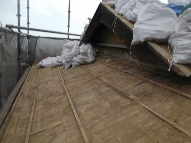 既存屋根撤去後DSCF1911