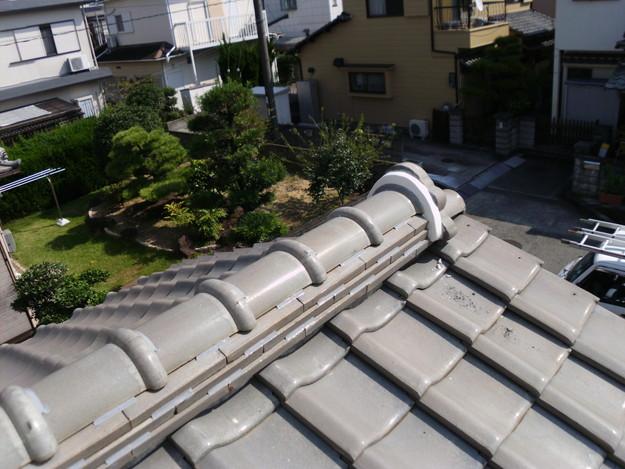 棟のラバー工事瓦ズレ止めDSCI0470