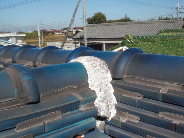 漆喰修理雨漏り対策施工前CIMG1885