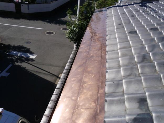 銅板一文字葺き工事14DSCI0444
