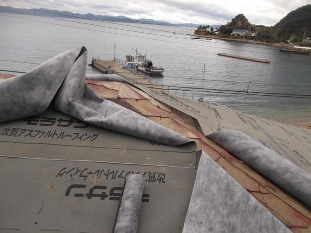 防水シート張りDSCF2300