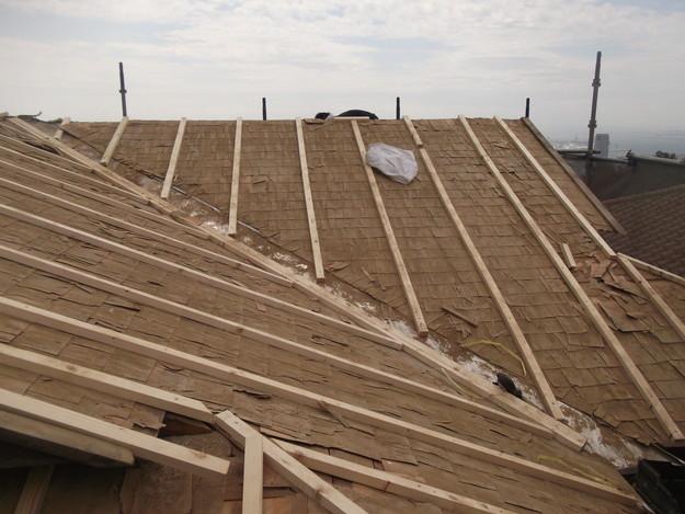 屋根下地作り補強DSCF1919
