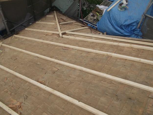 屋根下地作り補強DSCF1921