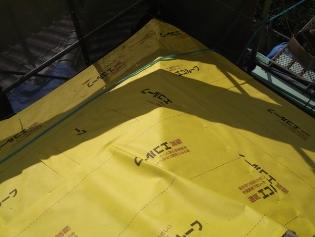 屋根防水シート材敷設DSCF1935