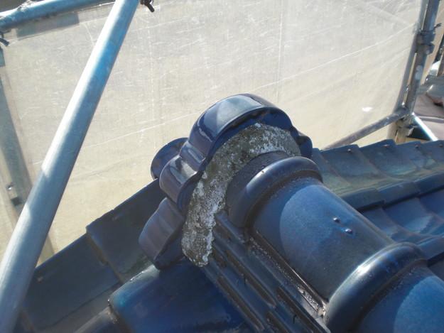 漆喰修理雨漏り対策施工前CIMG1883