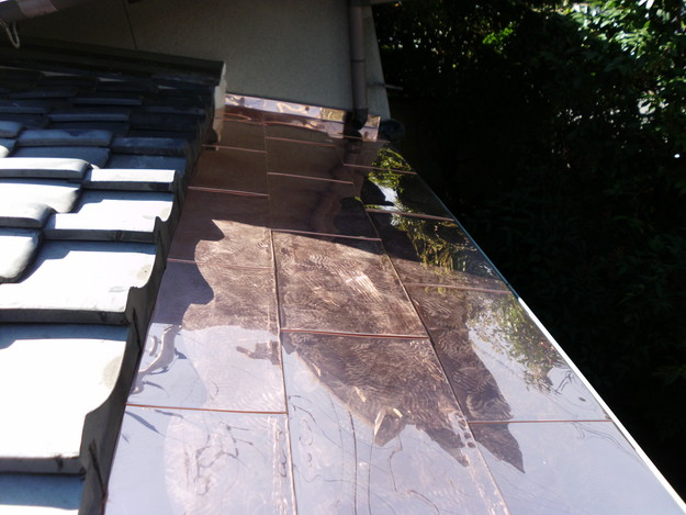 銅板一文字葺き工事12DSCI0439