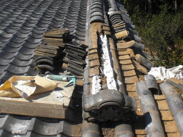 4大屋根棟瓦修理CIMG1856
