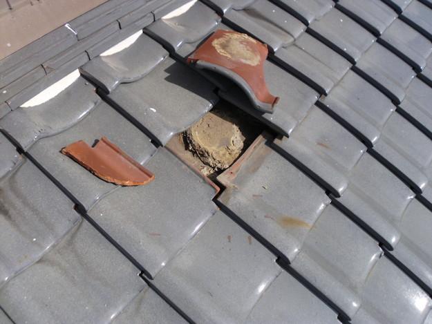 10雨漏り対策修理施工中DSCI0575