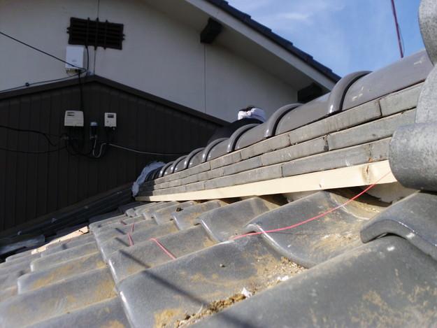 11雨漏り対策修理施工中DSCI0577
