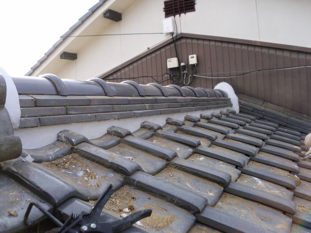 15雨漏り対策修理施工中DSCI0582
