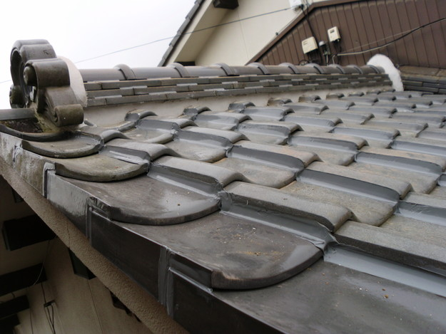 19雨漏り対策修理施工中DSCI0598