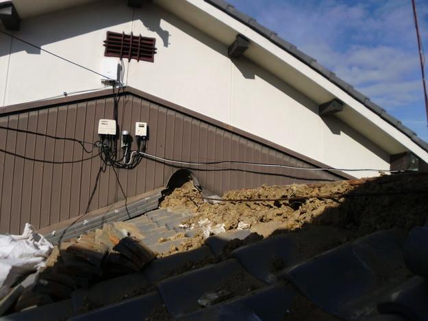 2雨漏り対策修理施工中DSCI0561