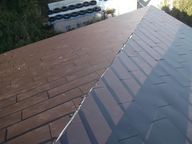 3カバー工法ガルバリウム屋根葺き替え工事DSCF2308