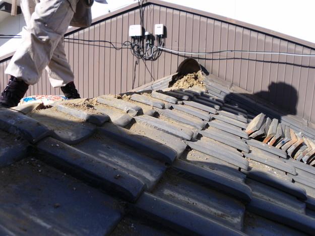 3雨漏り対策修理施工中DSCI0563
