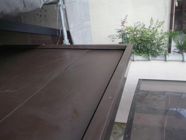 34玄関屋根の板金修理DSCF2232