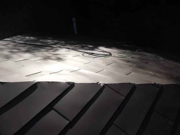 4カバー工法ガルバリウム屋根葺き替え工事DSCF2306