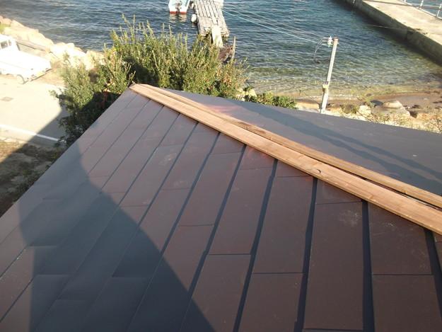6カバー工法ガルバリウム屋根葺き替え工事DSCF2310