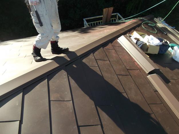 7カバー工法ガルバリウム屋根葺き替え工事DSCF2312