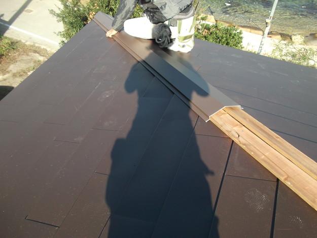 8カバー工法ガルバリウム屋根葺き替え工事DSCF2313
