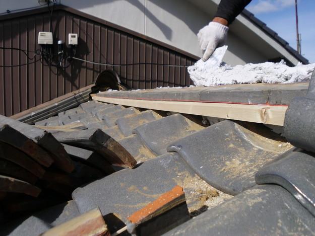 8雨漏り対策修理施工中DSCI0572