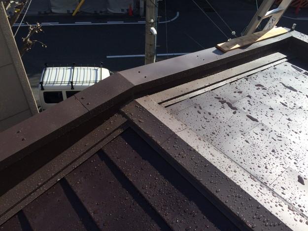 カバー工法工事による屋根のリフォーム完了1450663738556