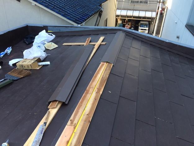 カバー工法工事による屋根のリフォーム1450663618864