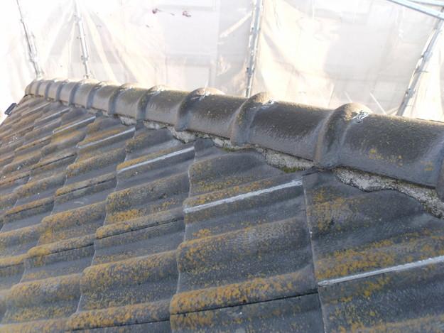 セメント瓦雨漏り対策修理施工前DSCI1001
