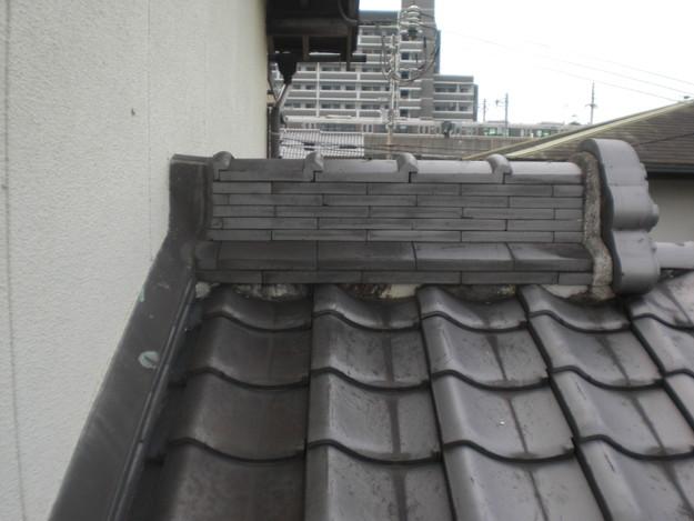 和瓦雨漏り対策修理棟瓦工事施工前CIMG2004
