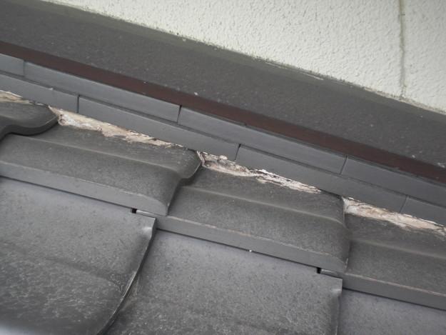 和瓦雨漏り対策修理棟瓦工事施工前CIMG2007
