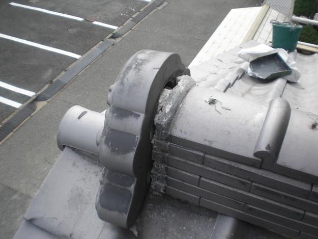 和瓦雨漏り対策修理棟瓦工事施工前CIMG2028