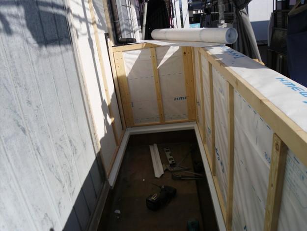 外壁サイディング工事中DSCI0680