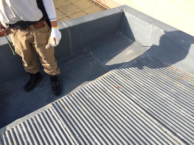 屋根のリフォームカバー工法工事施工前1450663533028