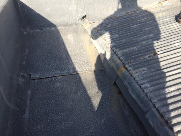 屋根のリフォームカバー工法工事施工前1450663552052
