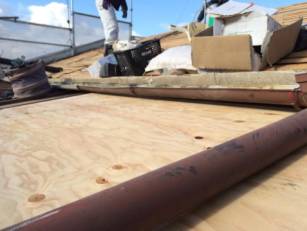 屋根のリフォーム下地補強等作業1450403127388