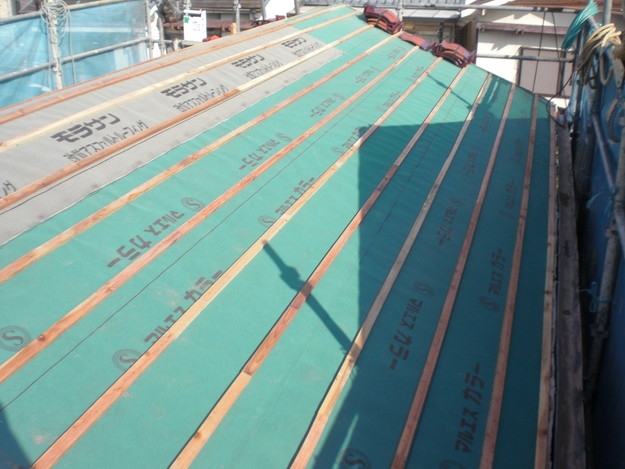 屋根のリフォーム完成までCIMG2130