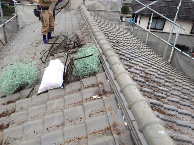 屋根のリフォーム工事ビフォー1449324356635
