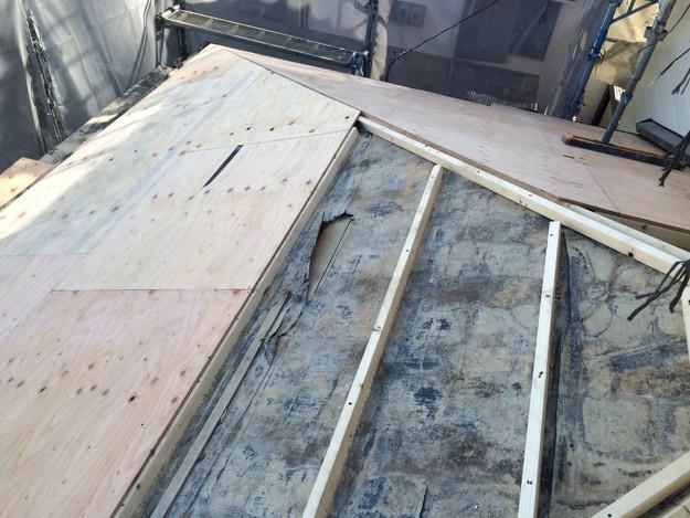 屋根の下地土台補強工事1449367324734