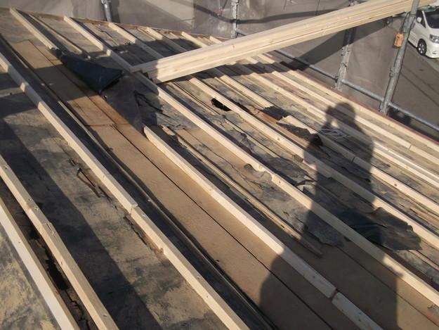 屋根の補強と土台づくりDSCF2555