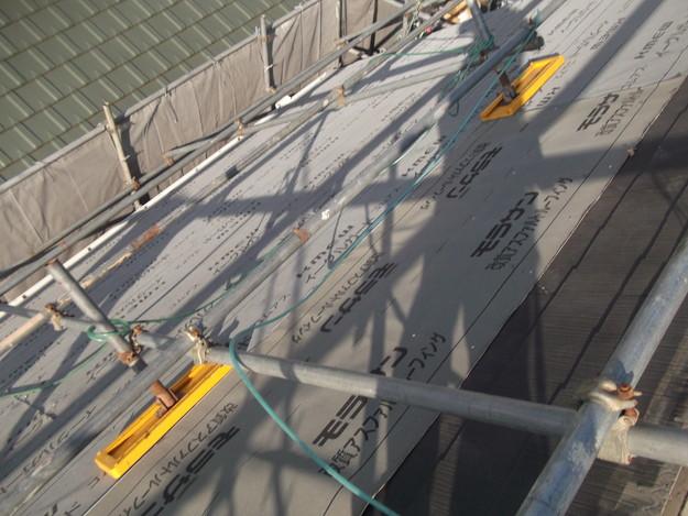 屋根リフォーム施工中DSCF2405
