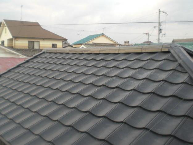 屋根葺き替えリフォーム工事新設瓦敷設から完成までCIMG2208