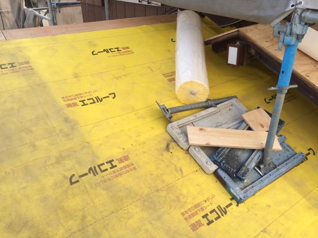 屋根防水シート敷設1449324576769