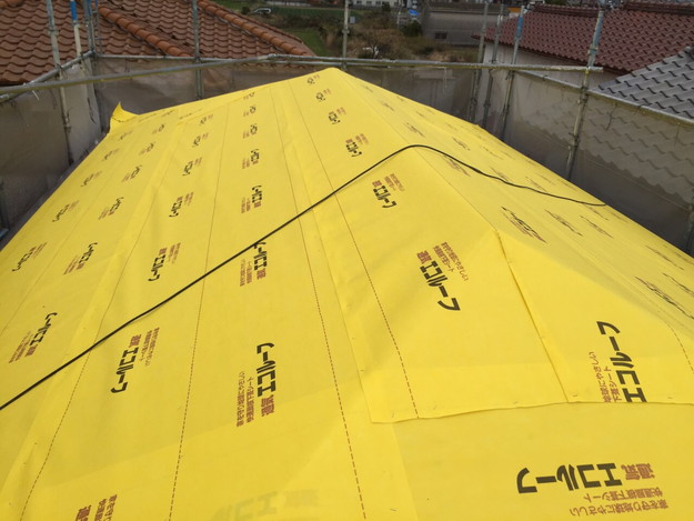 屋根防水シート敷設1449367352880