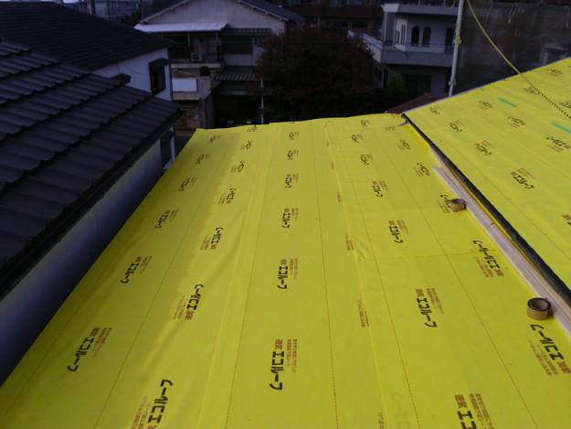 屋根防水シート敷設DSCI0616