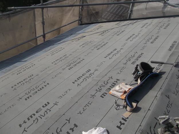 新しいカラーベスト屋根材敷設リフォーム完了までDSCF2568